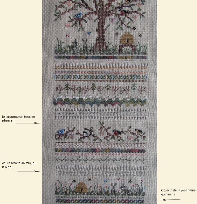 Heirloom family sampler - Victoria sampler